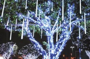 champion studios led snowfall lights - Snowfall Christmas Lights